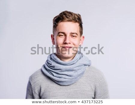jonge · stijlvol · zwarte · mannen · zwarte · man - stockfoto © konradbak