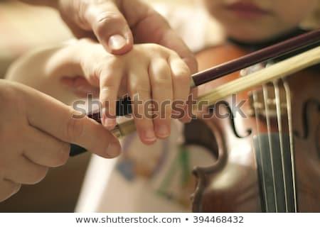 gift and violin foto stock © janpietruszka