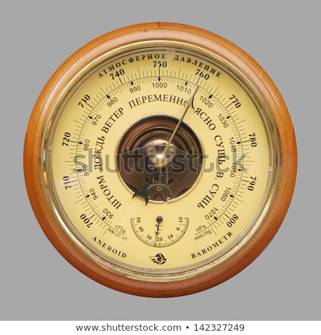 old russian barometer Stock photo © Mikko