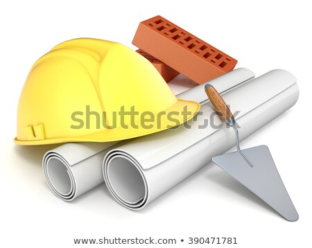 желтый · шлема · куча · проект · бизнеса - Сток-фото © tashatuvango