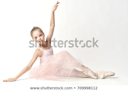 женщины · танцовщицы · Постоянный · один · ногу · белый - Сток-фото © wavebreak_media