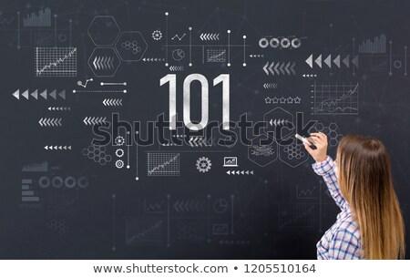 ストックフォト: ビジネス · 女性 · 101 · ビジネス女性 · 眼鏡 · 少女