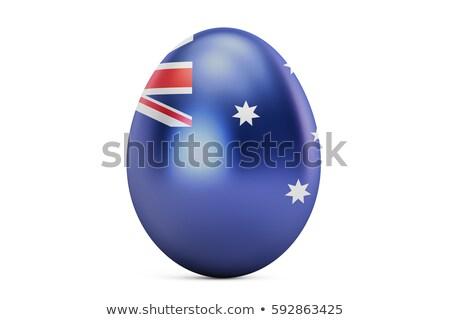 australian flag in easter egg stock photo © marinini