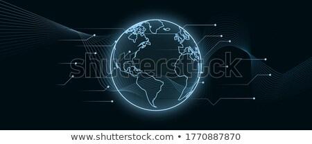 Global segurança cromo trancar símbolo círculo Foto stock © Lightsource