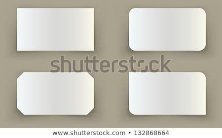 стандартный визитной карточкой тень иллюзия шаблон Сток-фото © tuulijumala