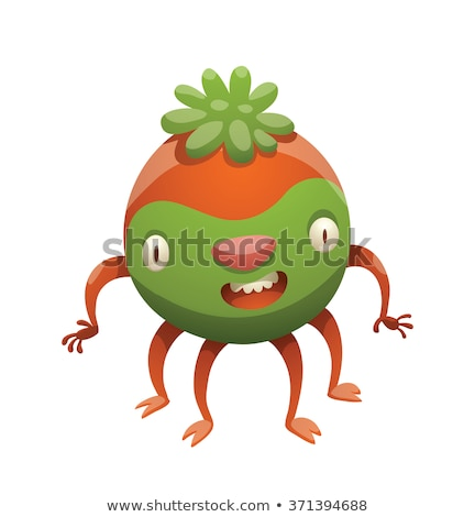 cuatro · funny · monstruo · feliz · ninos - foto stock © genestro