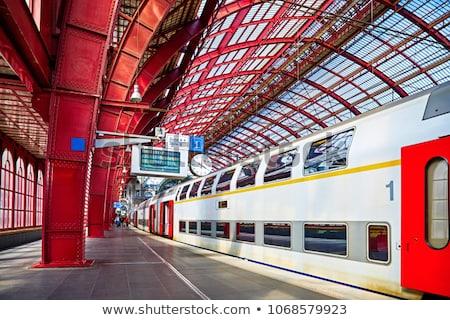Estação de trem painel informação vídeo negócio escritório Foto stock © ABBPhoto