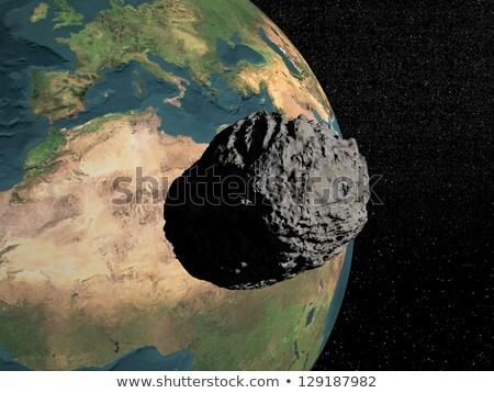 meteoriet · 3d · render · meteoor · atmosfeer · zonsopgang - stockfoto © elenarts
