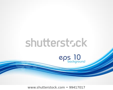 Absztrakt fényes kék hullám üzlet textúra Stock fotó © rioillustrator