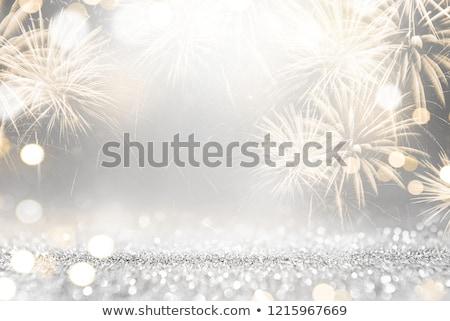Absztrakt új év fa fű csillagok csillag Stock fotó © rioillustrator