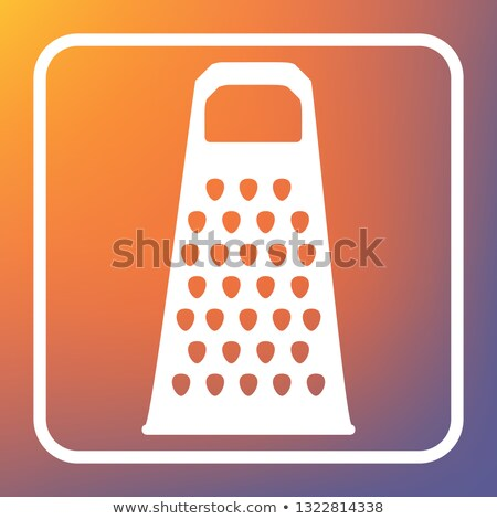 A grater with a violet handle on a white background Stock photo © shutswis