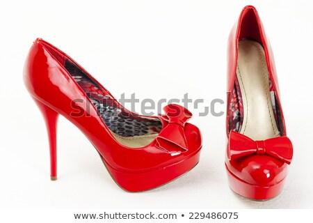 ファッショナブル プラットフォーム 赤 靴 スタイル オブジェクト ストックフォト © phbcz