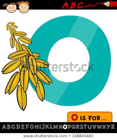 Avena Cartoon ilustración alfabeto Foto stock © izakowski
