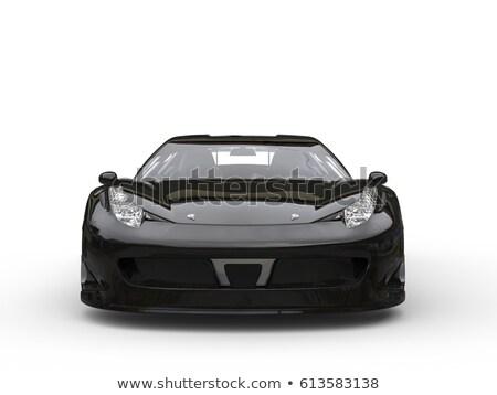 Jet siyah spor sedan modern seçici Stok fotoğraf © ArenaCreative