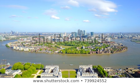 view of docklands from the royal naval college in london stock photo © chrisdorney