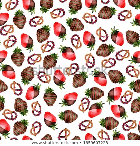 Cartoon Chocolate Covered Strawberry Stock photo  chocolate coveredCartoon Chocolate Covered Strawberry