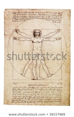homem · foto · papel · corpo · campo · arquitetura - foto stock © anterovium
