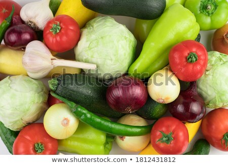 Different varieties of eggplant with water drops  Stock photo © BSANI