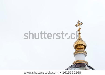 православный · крест · дороги · зеленый · Церкви · облаке - Сток-фото © ryhor