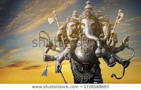Beautiful diwali celebration Hindu Lord Ganesha festival colorfu Stock photo © bharat