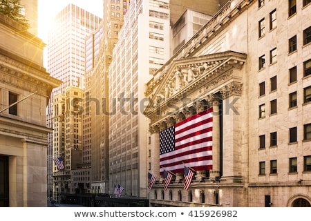 Wall Street balıkgözü görmek binalar New York ABD Stok fotoğraf © ErickN
