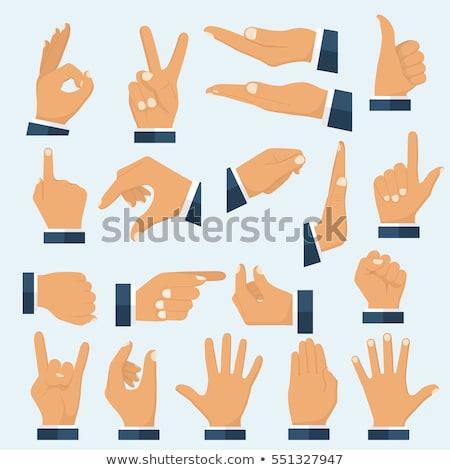 polegar · para · baixo · masculino · sinal · da · mão · isolado · branco - foto stock © andreypopov