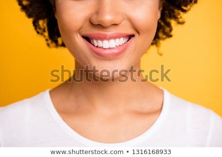 szépség · gyönyörű · nő · fedora · kalap · néz · mögött - stock fotó © lithian