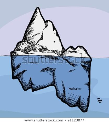 icebergue · flutuante · oceano · azul · aquecimento · global · água - foto stock © blamb