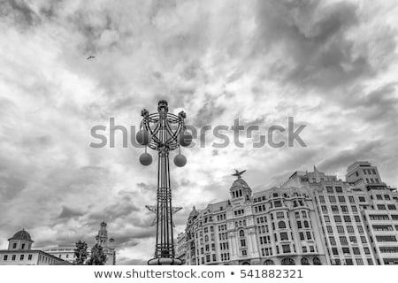 Валенсия железнодорожная станция башни подробность улице Испания Сток-фото © lunamarina