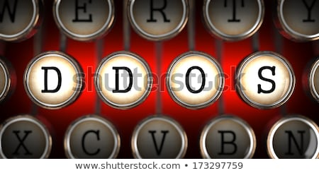 Attack on Old Typewriter's Keys. Stock photo © tashatuvango