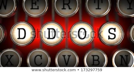 attack on old typewriters keys stock photo © tashatuvango