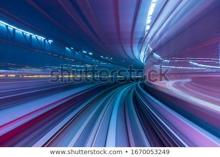 rápido · adelante · carrera · caballo · efecto - foto stock © lightsource