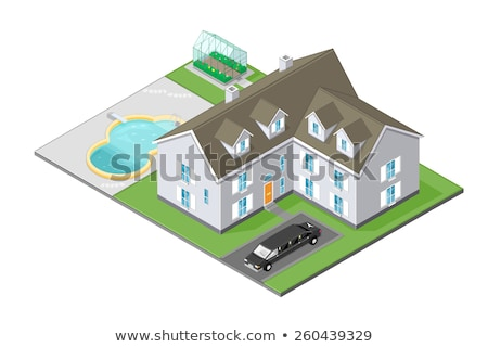 herenhuis · isometrische · eigen · wereld · business · huis - stockfoto © araga