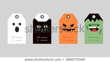 halloween · spinnenweb · tekst · textuur · achtergrond · oranje - stockfoto © elmiko
