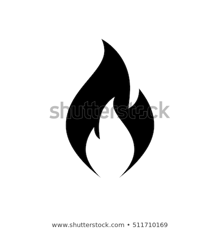 wektora · ognia · zapobieganie · ikona · odizolowany · biały - zdjęcia stock © m_pavlov