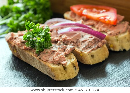 dark bread with liver pate stock photo © bigandt