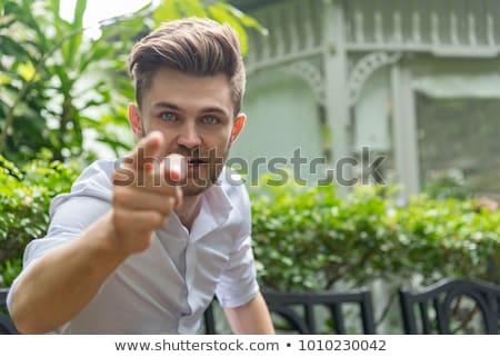 Nemico uomo bello giovani indian aggressivo Foto d'archivio © disorderly