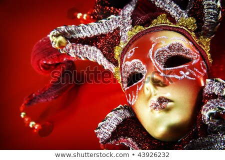 Beautiful Woman In Carnival Mask Over Abstract Background Foto stock © HannaMonika