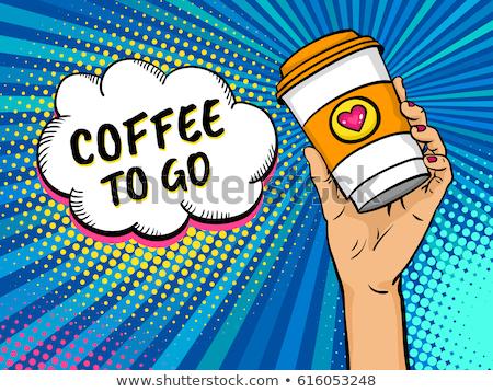 кофе · губ · горячей · напиток · всплеск · кофе - Сток-фото © nejron