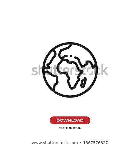 Branco globo ícone azul quadro rede Foto stock © mayboro