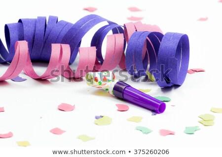 renkli · parti · boynuz · kâğıt · eğlence · oyuncak - stok fotoğraf © dezign56
