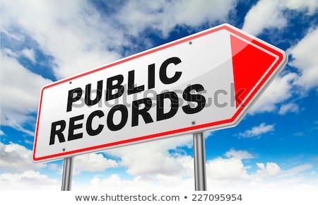 Público registros vermelho placa sinalizadora céu Foto stock © tashatuvango