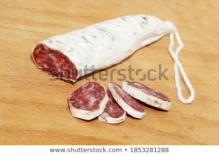 slices of fuet spanish cured sausage typical of catalonia stock photo © nito