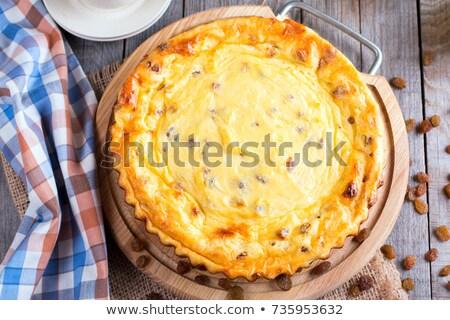 Süzme peynir kuru üzüm tablo yararlı kahvaltı kafe Stok fotoğraf © manera