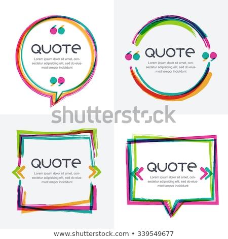 acrílico · pintura · marcos · establecer · diseno · marco - foto stock © morrmota