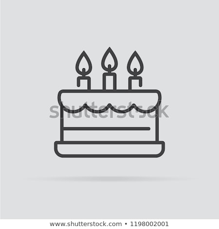 Vektör kek ikon simge doğum günü Stok fotoğraf © thanawong