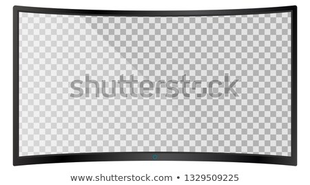 Modern widescreen lcd tv monitor isolated Stock photo © ozaiachin