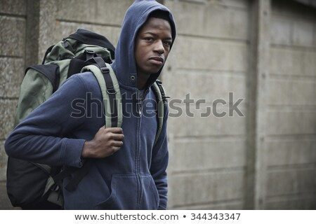 sin · hogar · calle · mochila · hombre · adolescente - foto stock © highwaystarz