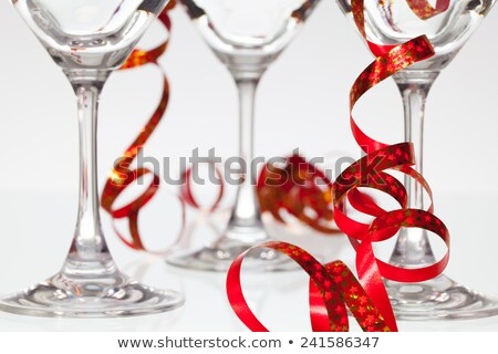 gafas · champán · cinta · Navidad · luces - foto stock © capturelight
