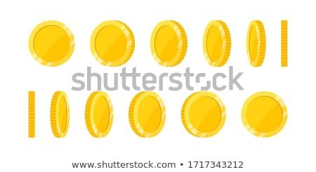 Gouden munt geld cirkel icon illustratie financieren Stockfoto © Anna_leni